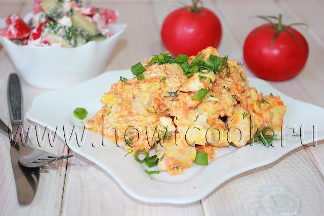 рецепт курицы с морковью в сметане