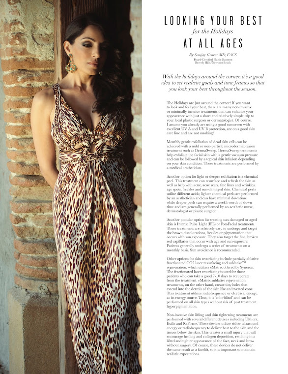 Dr. Grover FEATURED in Beverly Hills Lifestyle Magazine