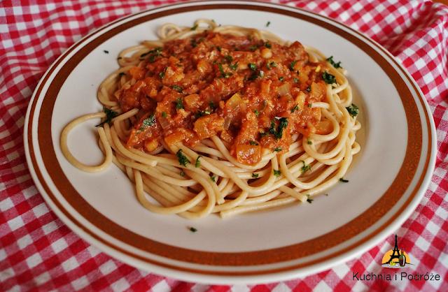 Spaghetti z sosem rybnym