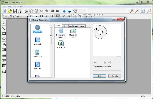Nero CoverDesigner - Programma per creare copertine per i tuoi CD e DVD gratis