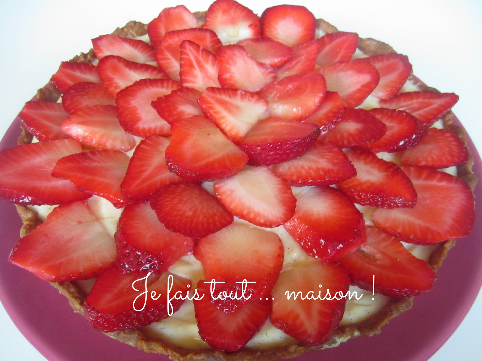 Tarte aux fraises et crème d'amandes