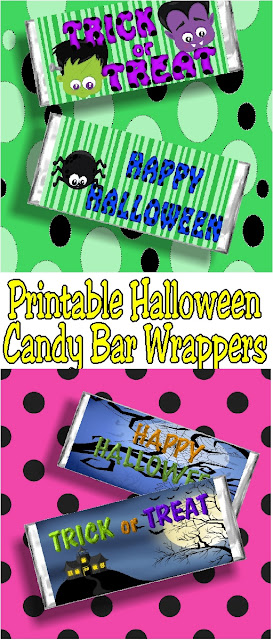 Give a fun candy bar card to your friends this Halloween with these printable Halloween candy bar wrappers. With just a print and a wrap, you'll be giving lots of sweet Halloween treats this year with no trouble at all. #printableHalloween #Halloweencandybar #Halloweenparty #diypartymomblog