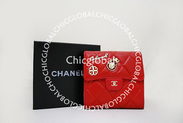 c5c9f255000c0e HOSHI AME HARIKO: Chanel Classic Quilted Flap Short Wallet Red 37238