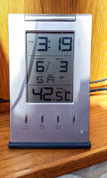 Photo of the temperature on the boat