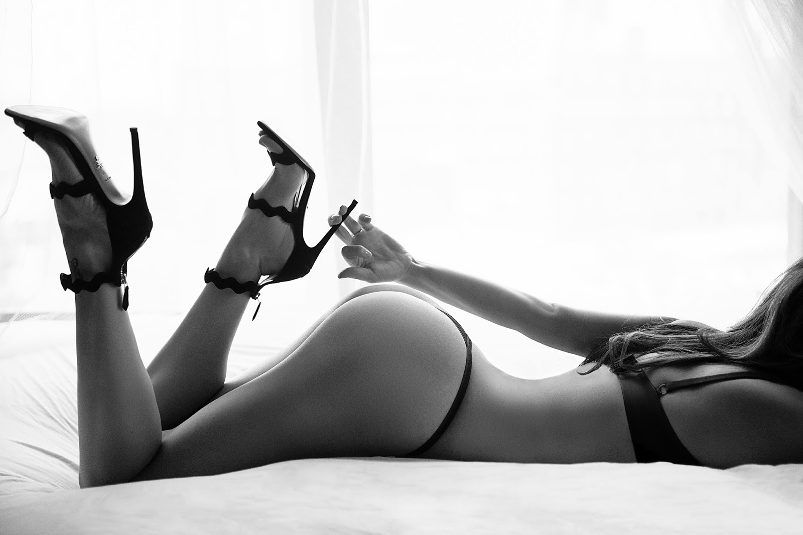 Boudoir Pose with High Heels