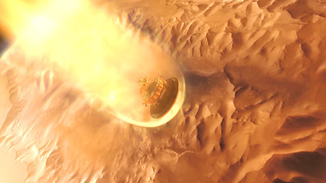 Journey to Space image - Mars heat shield