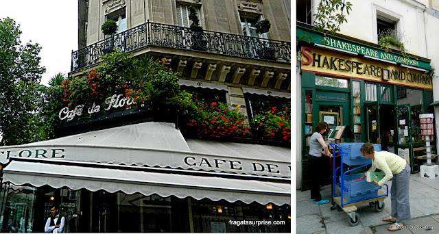 Paris: Café de Flore e Livraria Shakespeare and Company