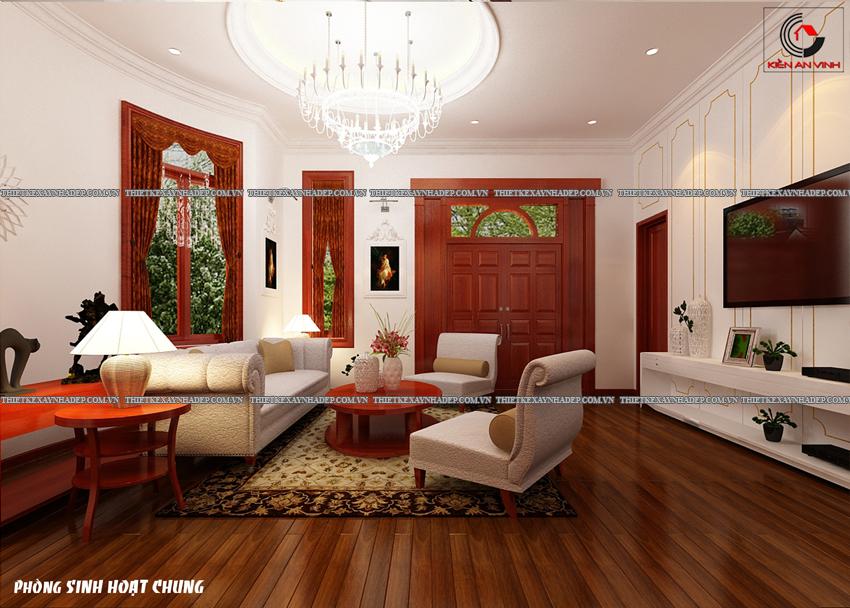 Mẫu thiết kế biệt thự nhà vườn 1 tầng đẹp hiện đại dt 150m2 Phong-shc-1