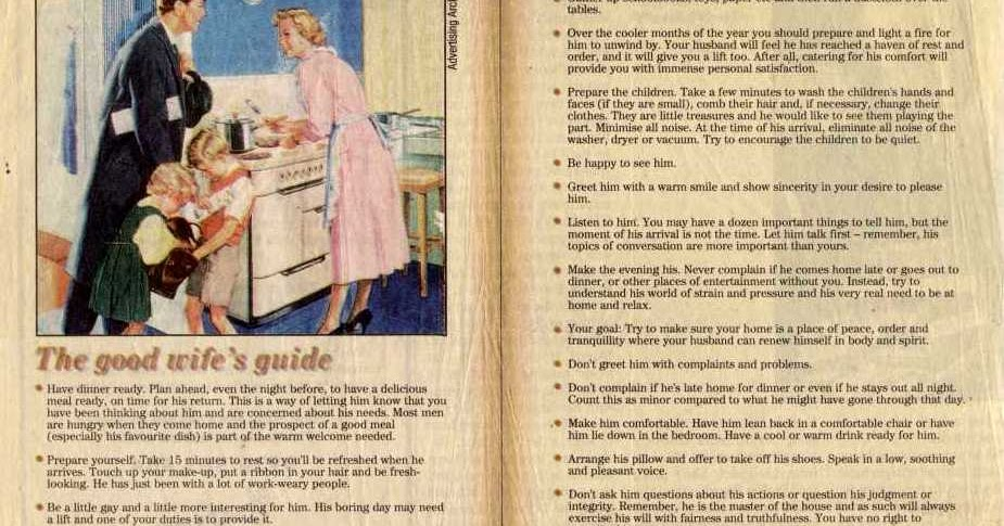 How to be a good wife in the 1950s vintage everyday m4hsunfo