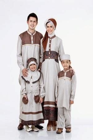 Model Baju Muslim Lebaran untuk Keluarga