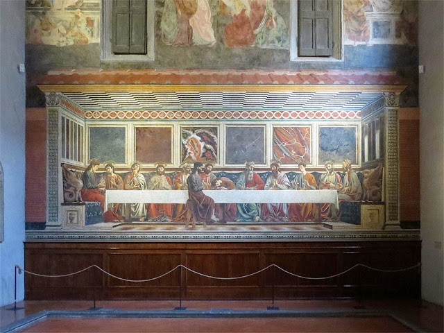 Last Supper by Andrea del Castagno, church of Sant'Apollonia, Florence