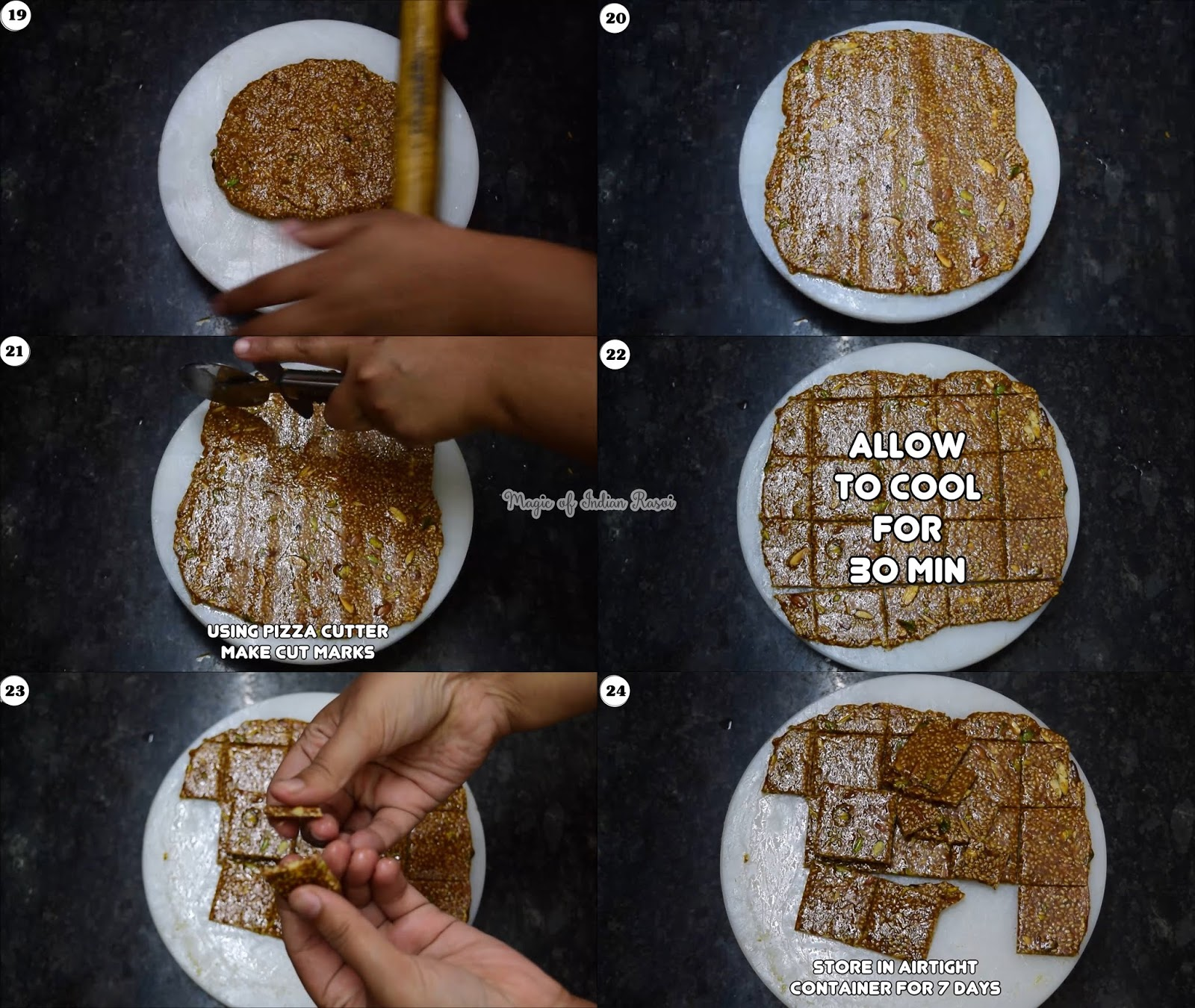 Perfect Til & Dry Fruits Gud Chikki Recipe - तिल और ड्राई फ्रूट्स चिक्की - Priya R - Magic of Indian Rasoi