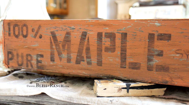 Old Wood Tool Box Maple Syrup Tote, Bliss-Ranch.com