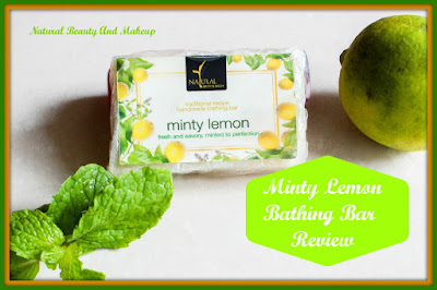 Review on Natural Bath & Body Minty Lemon Bathing Bar Soap blog post on Natural Beauty And Makeup Blog