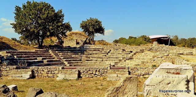 Anfiteatro no Sítio Arqueológico de Troia, Turquia