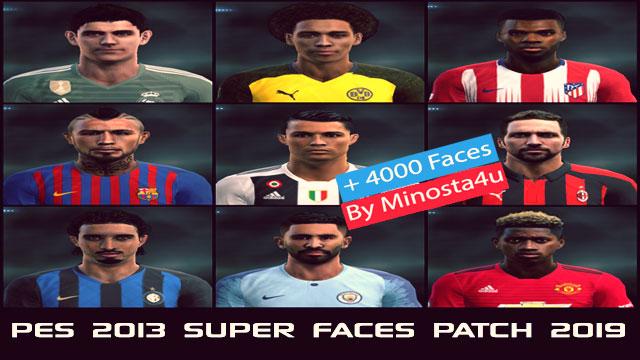PES 2013 Super Faces Patch 2019