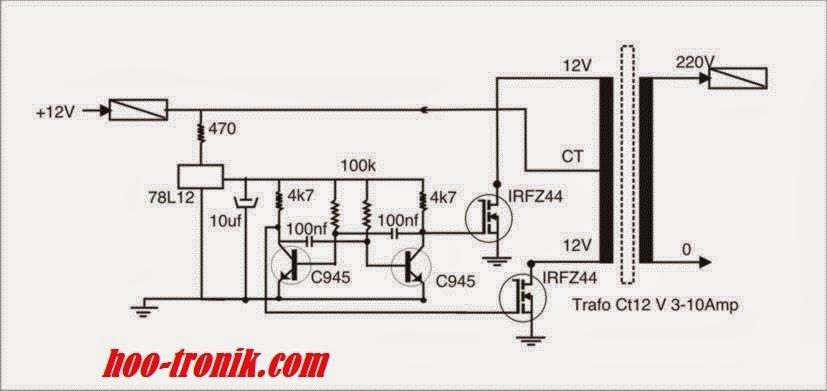 inverter 12 volt dc menjadi 220 volt ac 1000 watt dari