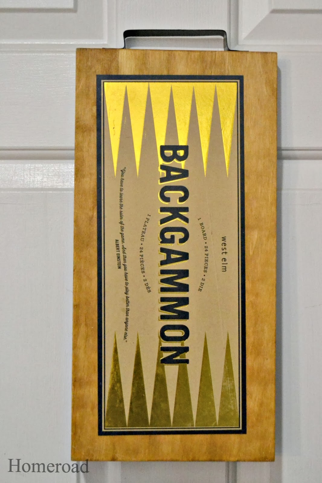 Backgammon chalkboard www.homeroad.net