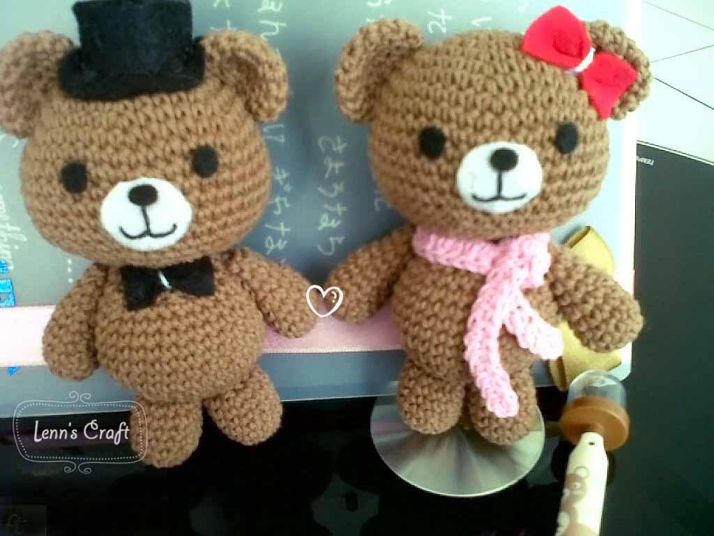 Amigurumi Boneka : Lenn s craft handmade doll amigurumi couple teddy amigurumi