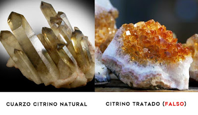 Cuarzo citrino natural vs falso - minerales falsos - foro de minerales