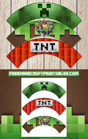 Printable Minecraft Cupcake Wrappers by Free Minecraft Printables