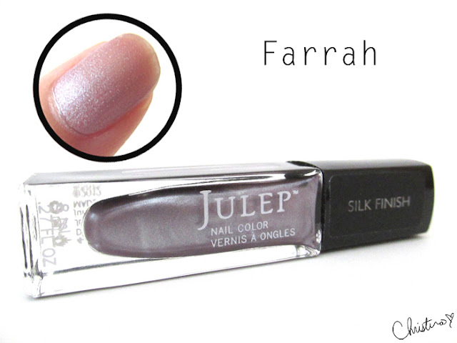 Julep Maven Fall Neutrals Farrah Swatch Review It Girl Silk Satin Lilac silk nail polish