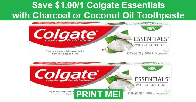Colgate Essentials Coupon | Save $1.00 off one Now!