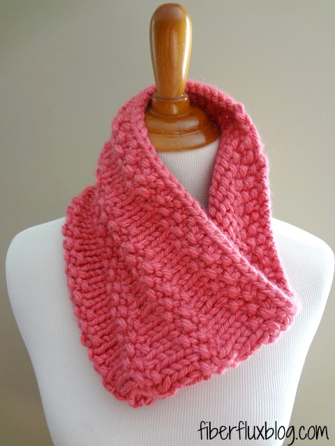 Fiber Flux Free Knitting Patternbubblegum Cowl