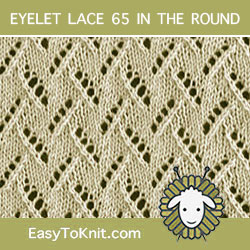 Leaves of Grass Eyelet Lace, easy to knit in the round