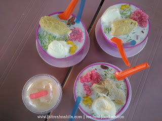 madani food station, coconut shake, cendol durian