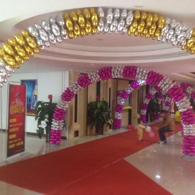 Contoh Dekorasi Balon Foil Empat Hati / Foil 4 Hati