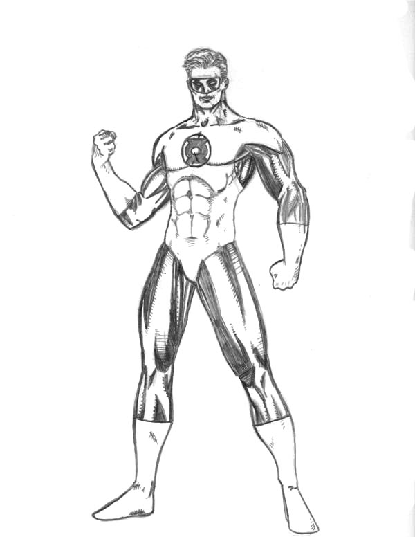Green Lantern Coloring Pages ~ Free Printable Coloring ...