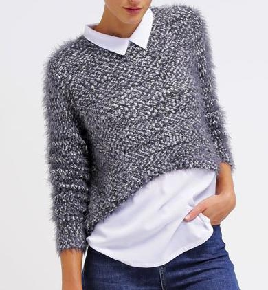 maglia lana grigia