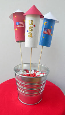 4th of July easy fireworks craft