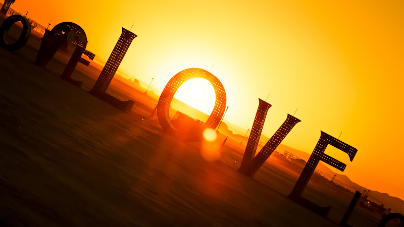 Love Sign at the Burning Man Festival HD