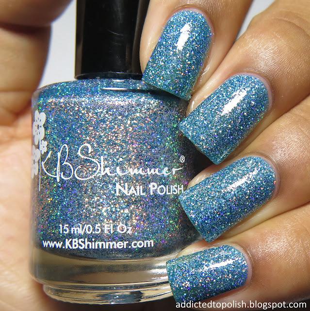 kbshimmer set in ocean spring 2016 mega flame blue holo micro glitter