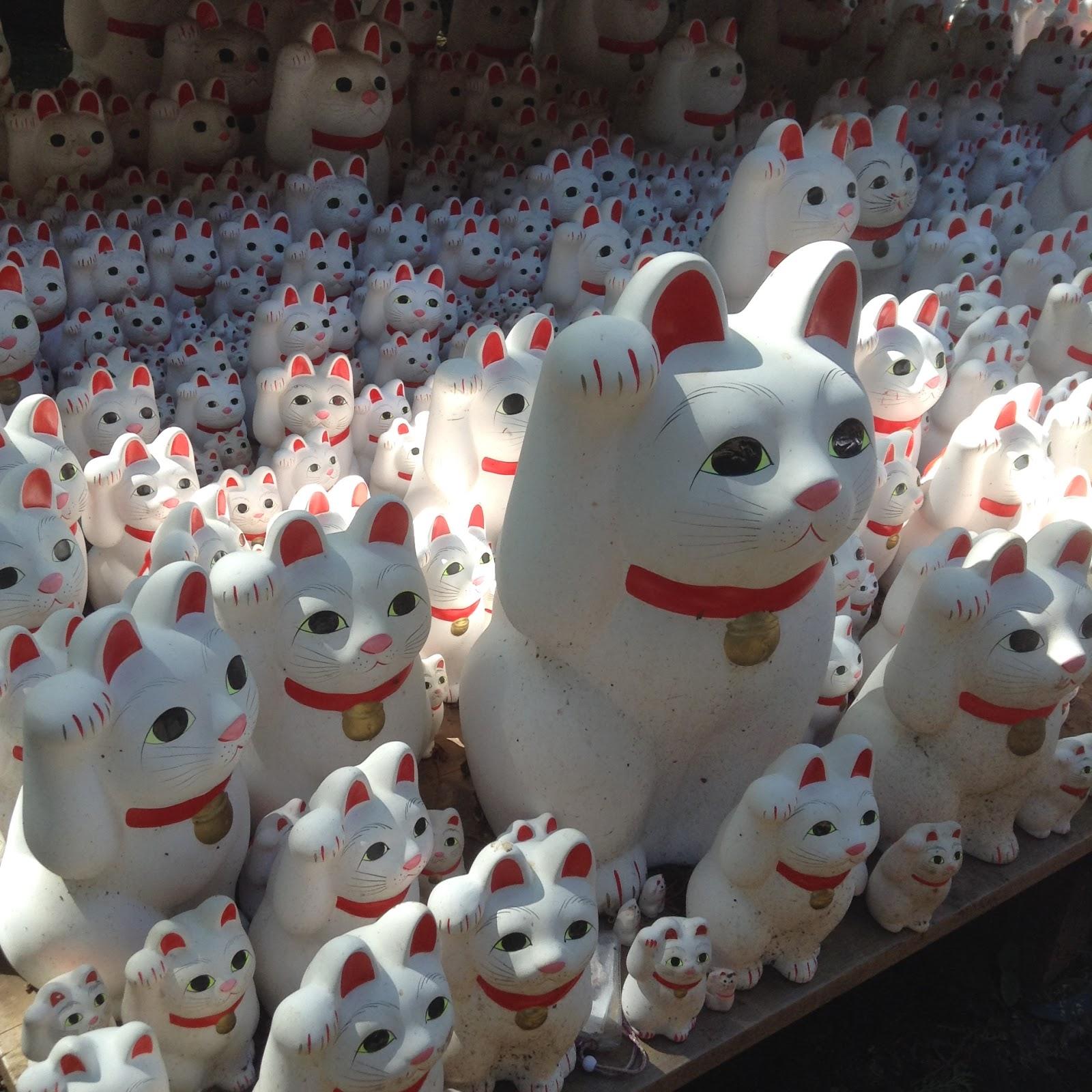 Lucky cat statues Japan