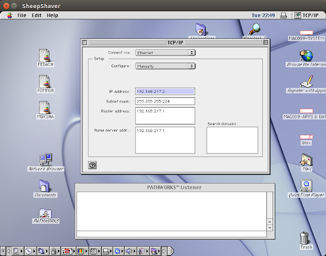 Supratim Sanyal's Blog: Mac OS 9 TCP/IP configuration using TCP/IP Control Panel