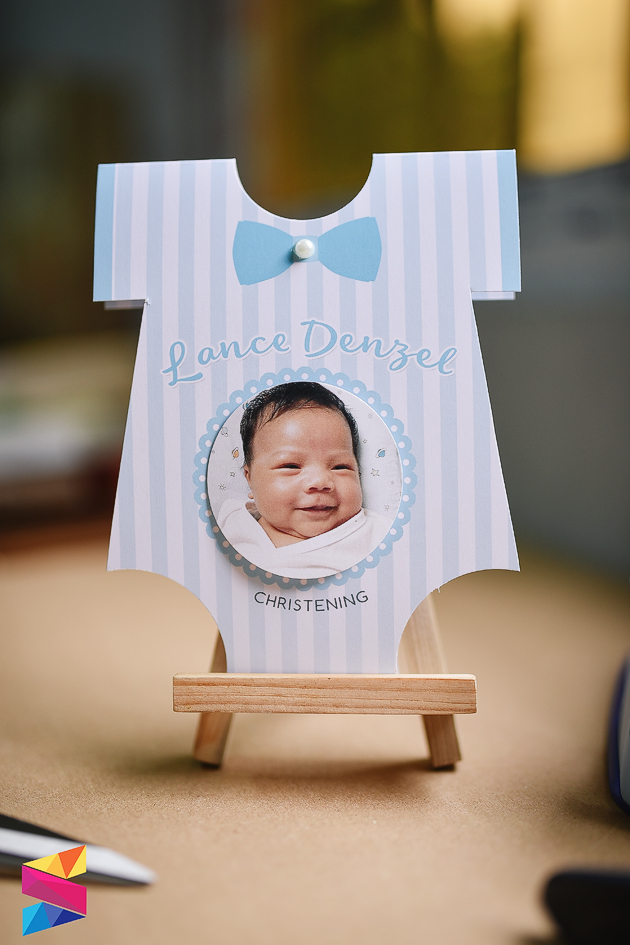 Lance onesie baptismal invitation stunro creativeworks labels baby boy baptismal baptismal invitation christening invites light blue onesie stopboris Gallery