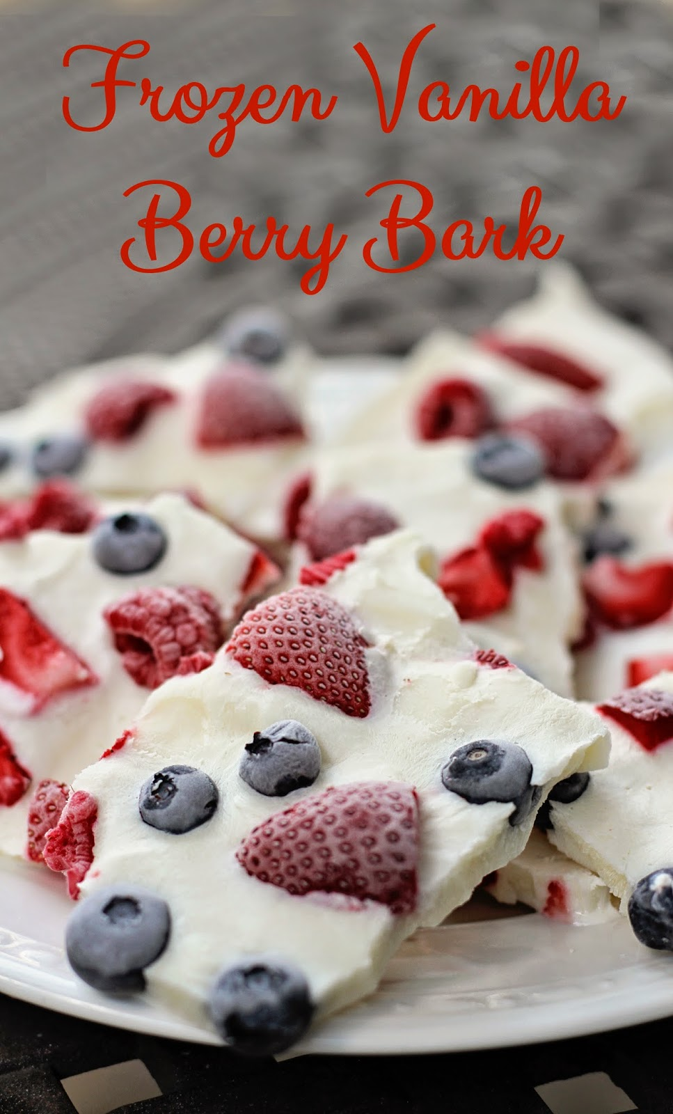 Frozen Yogurt Vanilla Berry Bark