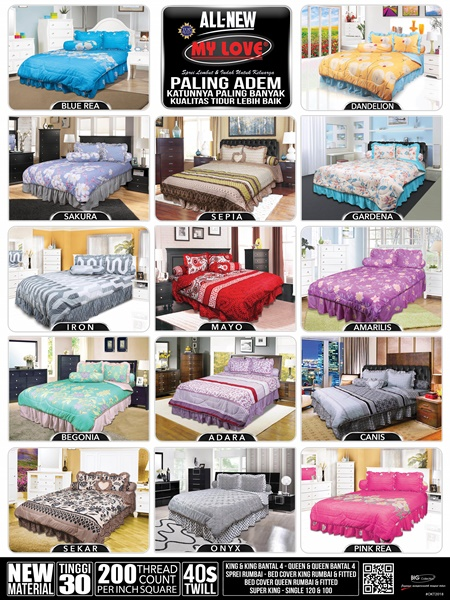 katalog harga sprei dan bed cover my love