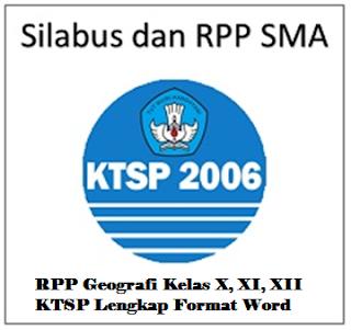 Download RPP Geografi Kelas X KTSP Lengkap - Arsip Bendahara