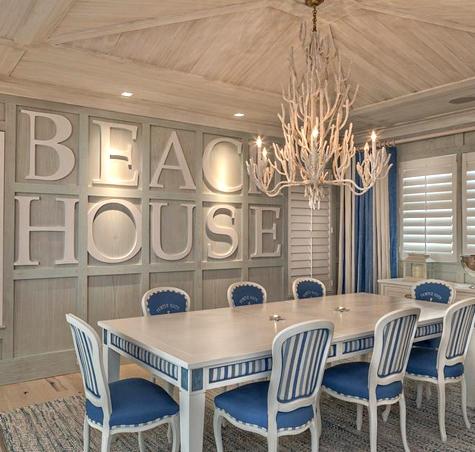 Bold Wall Designs In A Florida Beach House Coastal Decor