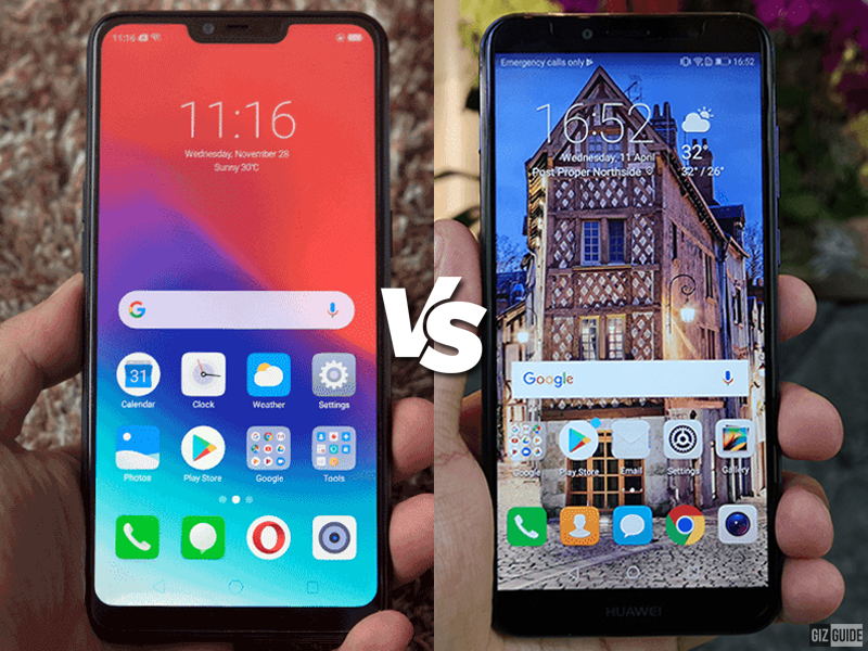 Realme C1 vs Huawei Y6 2018 Specs Comparison