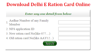 Delhi Ration Card Status