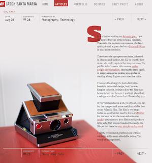 Screenshot of the blog post by Jason Santa Maria