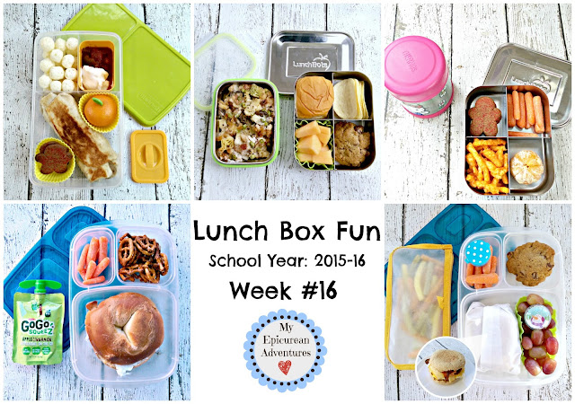 My Epicurean Adventures: Lunch Box Fun 2015-16: Week #16. Lunch box ideas, school lunch ideas, lunches