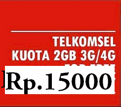 paket internet murah telkomsel 2GB 15 RB