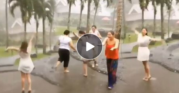 Angel Locsin Bathes In The Rain With Her Friends!
