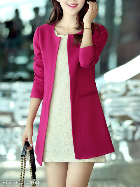 blazer lungo berry look blazer fucsia tendenza blazer mariafelicia magno fashion blogger colorblock by felym fashion blogger italiane blog di moda shop on line acquistare blazer on line